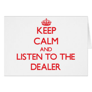 Guarde la calma y escuche el distribuidor autoriza felicitacion