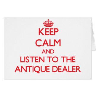 Guarde la calma y escuche el distribuidor autoriza tarjetas