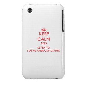 Guarde la calma y escuche el EVANGELIO del NATIVO  iPhone 3 Carcasas