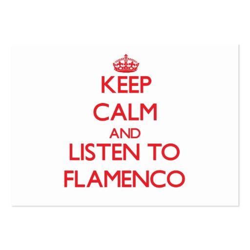Guarde la calma y escuche el FLAMENCO Tarjeta De Visita