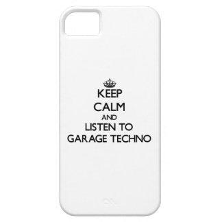 Guarde la calma y escuche el GARAJE TECHNO iPhone 5 Carcasa