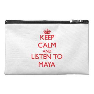 Guarde la calma y escuche el maya
