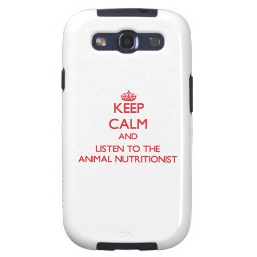 Guarde la calma y escuche el nutricionista animal galaxy SIII funda
