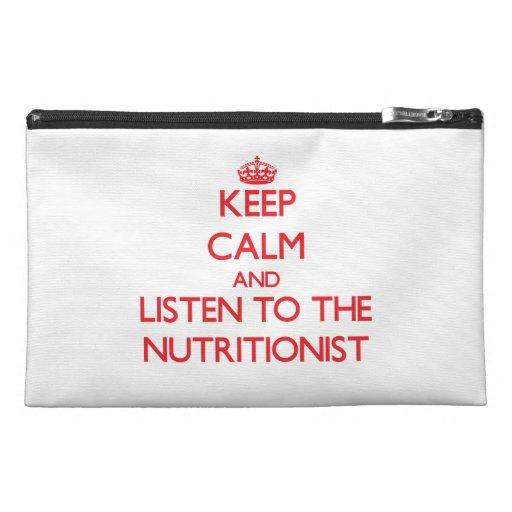 Guarde la calma y escuche el nutricionista