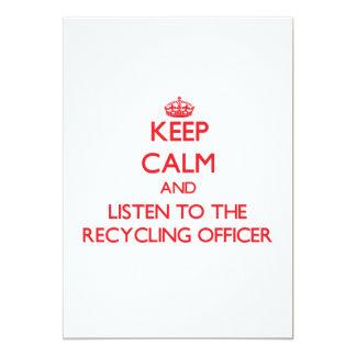 Guarde la calma y escuche el oficial de reciclaje comunicados personalizados