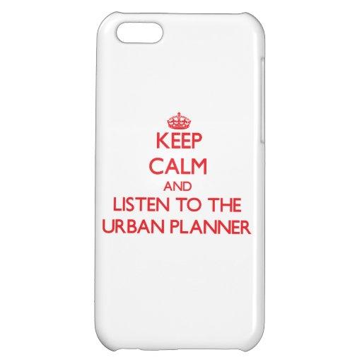 Guarde la calma y escuche el planificador urbano