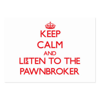 Guarde la calma y escuche el prestamista tarjeta de negocio