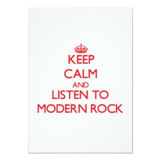 Guarde la calma y escuche el ROCK MODERNO Anuncio Personalizado