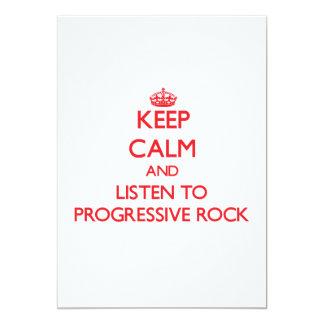 Guarde la calma y escuche el ROCK PROGRESIVO Invitaciones Personales