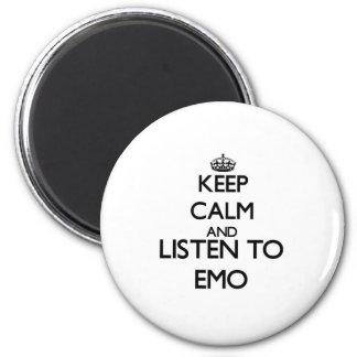 Guarde la calma y escuche EMO Imanes
