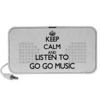 Guarde la calma y escuche IR-PARA IR MÚSICA Portátil Altavoces