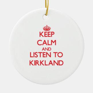 Guarde la calma y escuche Kirkland Ornamento Para Reyes Magos