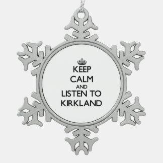 Guarde la calma y escuche Kirkland Adorno