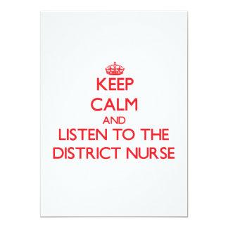 Guarde la calma y escuche la enfermera del invitaciones personalizada