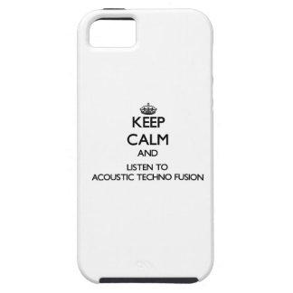 Guarde la calma y escuche la FUSIÓN ACÚSTICA de iPhone 5 Case-Mate Carcasas