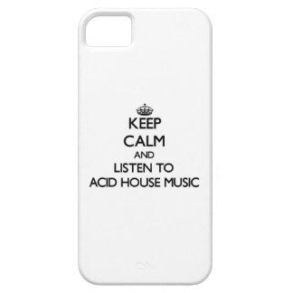 Guarde la calma y escuche la MÚSICA ÁCIDA de la iPhone 5 Case-Mate Cárcasa