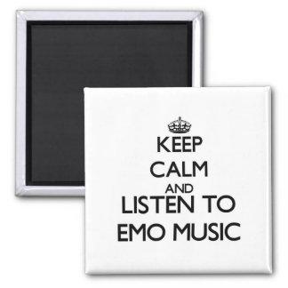 Guarde la calma y escuche la MÚSICA de EMO Imanes