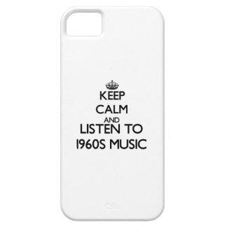 Guarde la calma y escuche la MÚSICA de los años 60 iPhone 5 Carcasas