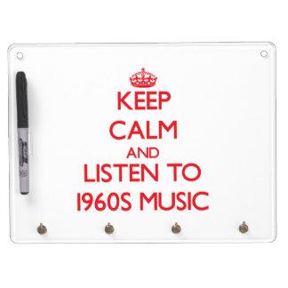 Guarde la calma y escuche la MÚSICA de los años 60 Pizarras Blancas