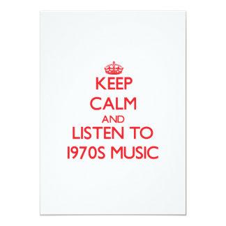 Guarde la calma y escuche la MÚSICA de los años 70 Anuncios