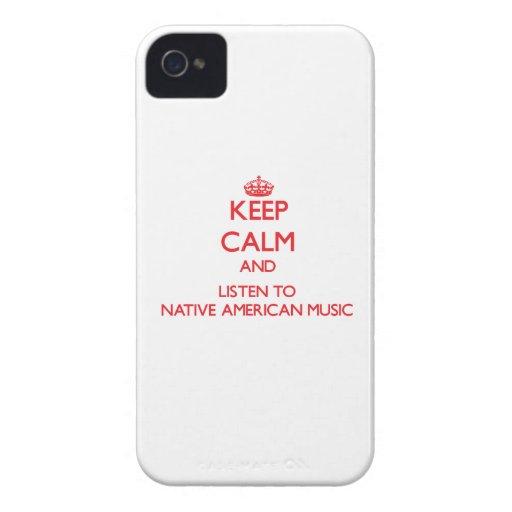 Guarde la calma y escuche la MÚSICA del NATIVO AME iPhone 4 Cárcasas