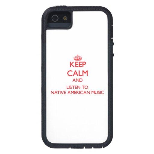 Guarde la calma y escuche la MÚSICA del NATIVO AME iPhone 5 Coberturas