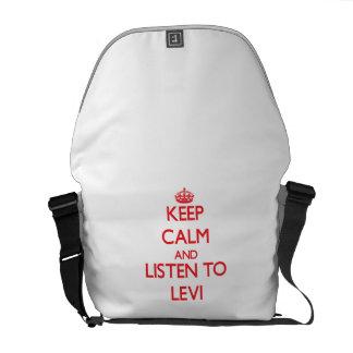 Guarde la calma y escuche Levi Bolsas De Mensajería