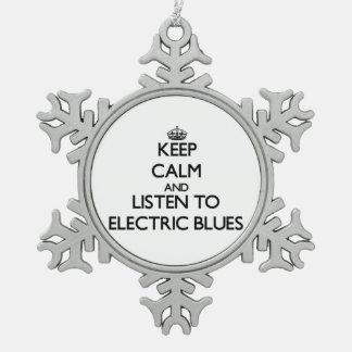Guarde la calma y escuche los AZULES ELÉCTRICOS Adorno