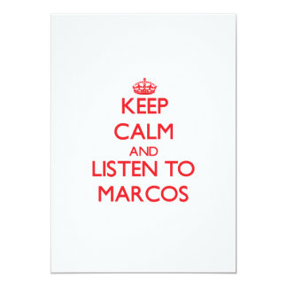 Guarde la calma y escuche Marcos Anuncio Personalizado