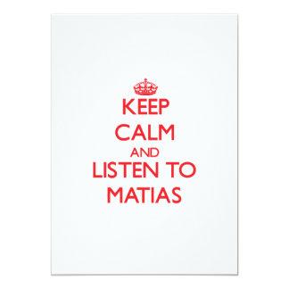 Guarde la calma y escuche Matias Comunicados Personalizados