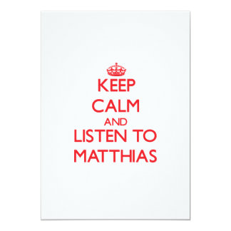 Guarde la calma y escuche Matías Comunicados