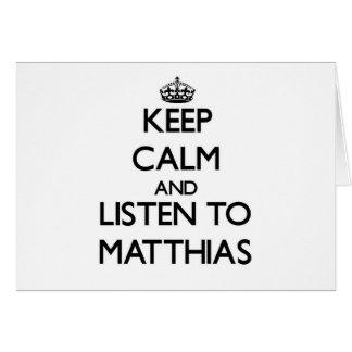 Guarde la calma y escuche Matías Felicitaciones
