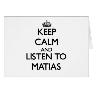 Guarde la calma y escuche Matias Tarjeton
