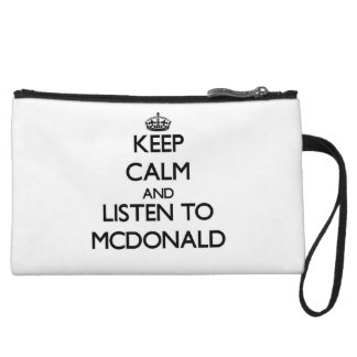 Guarde la calma y escuche Mcdonald