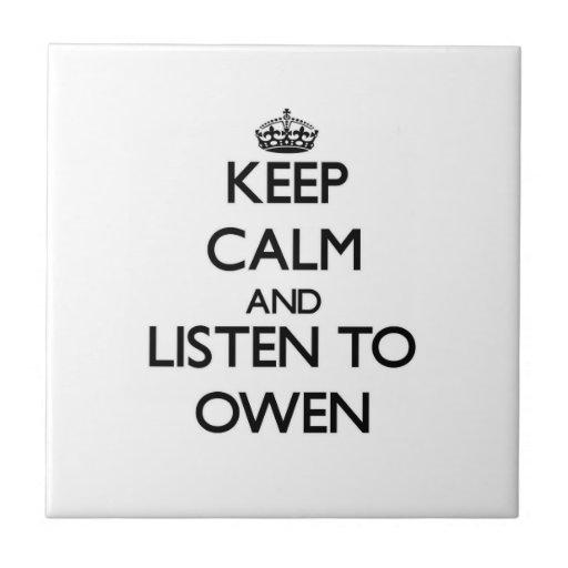 Guarde la calma y escuche Owen Azulejos Ceramicos