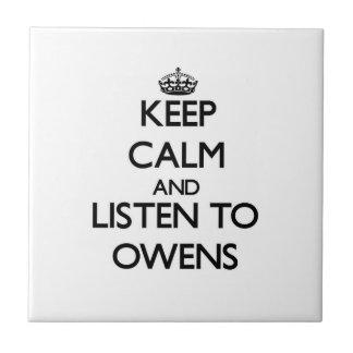 Guarde la calma y escuche Owens Azulejos Ceramicos