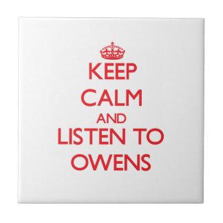 Guarde la calma y escuche Owens Teja