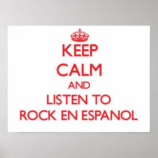Guarde la calma y escuche PARA OSCILAR EN ESPANOL Impresiones
