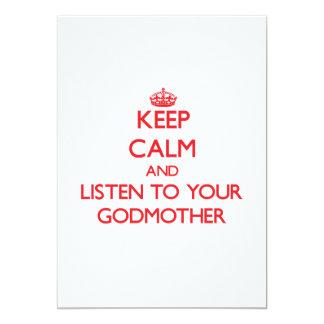 Guarde la calma y escuche su madrina comunicado