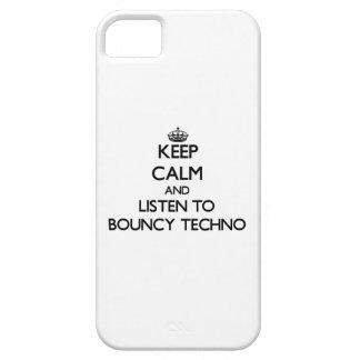 Guarde la calma y escuche TECHNO ANIMOSO iPhone 5 Funda