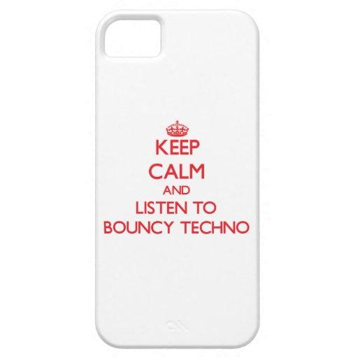 Guarde la calma y escuche TECHNO ANIMOSO iPhone 5 Case-Mate Fundas