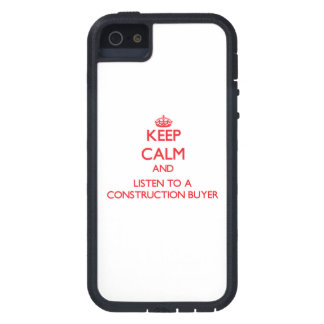 Guarde la calma y escuche un comprador de la const iPhone 5 protector