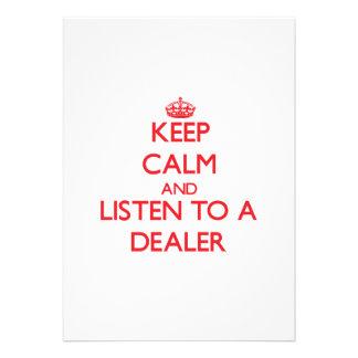 Guarde la calma y escuche un distribuidor autoriza invitacion personal