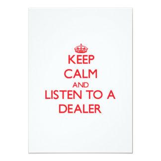 Guarde la calma y escuche un distribuidor invitacion personal