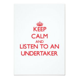 Guarde la calma y escuche un empresario de pompas invitaciones personales