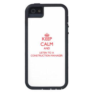 Guarde la calma y escuche un encargado de la const iPhone 5 fundas