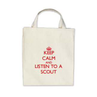 Guarde la calma y escuche un explorador bolsas