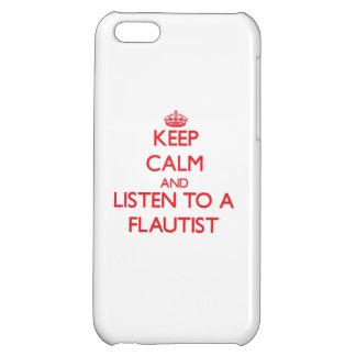 Guarde la calma y escuche un flautista