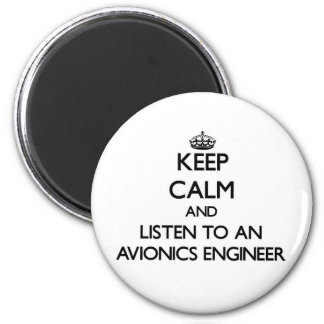 Guarde la calma y escuche un ingeniero de la avión imanes de nevera