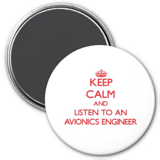 Guarde la calma y escuche un ingeniero de la avión imanes